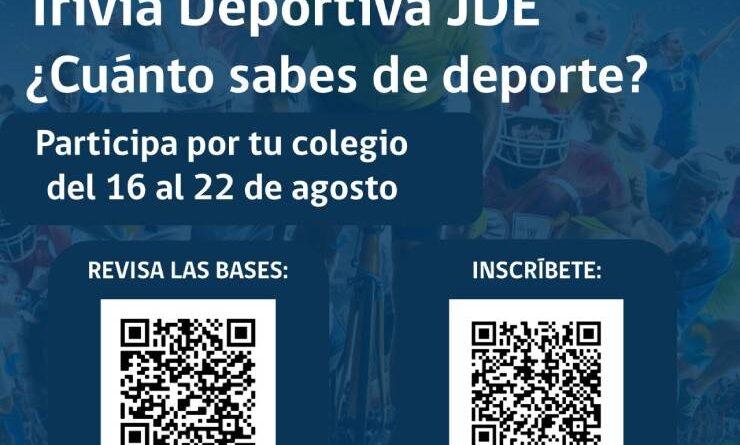 Mindep IND convoca a estudiantes de la región a participar en una Trivia Deportiva .