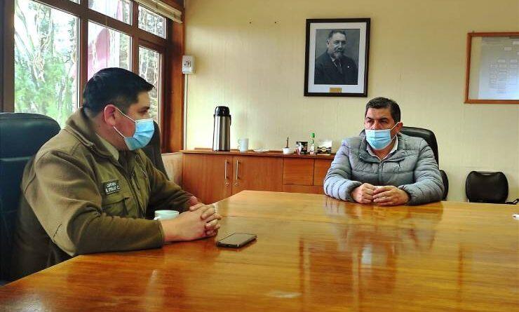 Municipio de Purranque y carabineros refuerzan labores preventivas en la comuna.