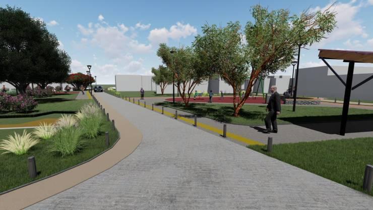 Colocan primera piedra de Plaza Riñihue, plazuela y pasaje Colo Colo en Purranque.